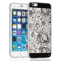 Fosmon® Apple iPhone 6 Plus Case (DURA-FLORA) Flower Pattern Design Slim-Fit Flexible TPU Case for iPhone 6 Plus 5.5 Inch - Fosmon Retail Packaging (Black), http://www.amazon.ca/dp/B00PKTV6RC/ref=cm_sw_r_pi_awdl_wVDTub0WPQDC9