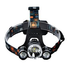 5000 Lumens Max Headlamp, GrdeŒ¬ 3 LED 4 Modes headlight, Hands-free water-resistant Flashlight, Power Bank, Rechargeable Led headlamp for Outdoor Sports with 2 Lithium Batteries (RJ5000) -- Visit the image link more details.