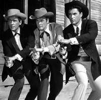 The two Maverick brothers - Bart & Bret and cousin Beau. Maverick ran from 1957 - 1962 and starred James Garner, Jack Kelly & Roger Moore. Ac Dc, Hollywood Actor, Old Hollywood, Maverick Tv, Tv Retro, Jack Kelly, Tv Westerns, Roger Moore, Old Shows