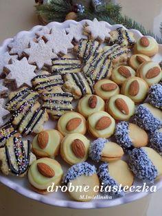 Domowa Cukierenka : drobne ciasteczka Cookie Recipes, Dessert Recipes, Desserts, Polish Recipes, Polish Food, Sweet Bakery, Christmas Sweets, Pumpkin Cheesecake, Homemade Cakes
