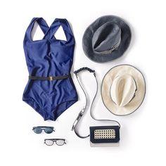 Summer essentials, SAGAN Vienna rattan crossbody bag in navy and silver for Thermalbad Vöslau. Hugo, Summer Essentials, Vienna, Rattan, Collaboration, Crossbody Bag, Bodysuit, One Piece, Navy
