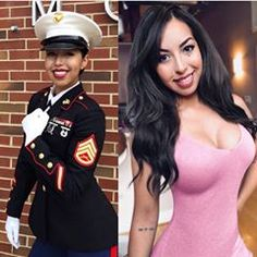 Where are all our Marine Corps sisters at? Rep your branch below ⬇️⬇️. Female Marines, Female Soldier, Military Girl, Latina Girls, Military Women, Girls Uniforms, Badass Women, Professional Women, Sexy Hot Girls