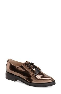 French Connection 'Maeko' Oxford (Women) available at Loafer Shoes, Loafers, Metallic Oxfords, French Connection, Who What Wear, Boat Shoes, Me Too Shoes, Oxford Shoes, Nordstrom