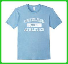 Mens Beach Volleyball Athletics T Shirt No. 1 Distressed 2XL Baby Blue - Sports shirts (*Amazon Partner-Link)