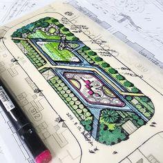 Residential Landscape Architecture Design Process For The Private Residence Landscape Architecture Drawing, Landscape Plans, Urban Landscape, Landscape Design, Donia, Home Landscaping, Master Plan, Urban Planning, Urban Design