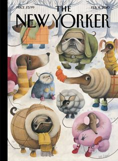 "The New Yorker cover: Feb. 08, 2010. ""Baby, It's Cold Outside,"" by Ana Juan."