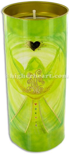 Angel of Fortune Candle inspirational and decorative