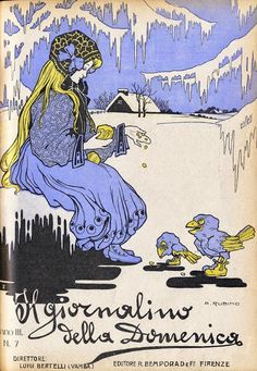 Animalarium: Il giornalino della Domenica ~ cover by Antonio Rubino, 1908
