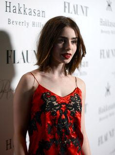 Lily Collins - Stars at Flaunt Magazine November Issue Party