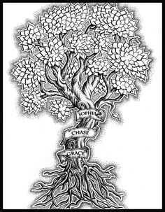 family tree with roots tattoos Tree Tattoo Designs, Tattoo Ideas, Roots Tattoo, Tree Tattoo Back, Back Pieces, Flowers, Inspiration, Image, Beauty