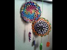 Croche dreamcatchers (filtro dos sonhos )com base no CD ( DIY ), My Crafts and DIY Projects