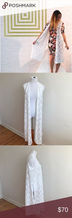 """🌼NWT Lularoe White Lace Joy {A} Brand new, never worn, tags still attached.  Mix and match with so many different things--this piece is so versatile! Size small.  Measures about 42"""" long. LuLaRoe Other"""
