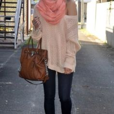 Slouchy sweater & skinnies