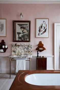 'Cuisse de Nymphe Emue' paint from Edward's range provides a backdrop for artworks including nudes by Edward.