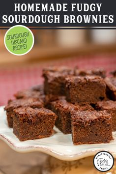 When you have a sourdough starter, sometimes you have a lot of sourdough discard to use up. This fudgy brownie recipe is the perfect solution, plus it's a healthier spin on regular brownies and we even have a gluten-free option! #brownies #sourdough #fudgy Fudgy Brownie Recipe, Fudgy Brownies, Brownie Recipes, Dough Starter Recipe, Starter Recipes, Bakers Chocolate, Homemade Brownies, Sourdough Recipes, Spin