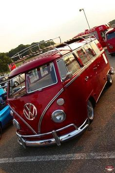 the color red and hippie vans are my two favorite things  | volkswagen vw bus #vwbus ☮ pinned by http://www.wfpblogs.com/author/southfloridah2o/