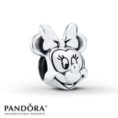 PANDORA Charm Disney, Minnie Portrait  Sterling Silver - $50.00