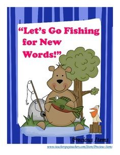 """""""Let's Go Fishing"""" for New Words is a game that my students LOVE!   Students will go fishing for letters to make words using the phonogram/word family on the fish.  Each student gets 2 to 5 fish.  I usually have 2 to 3 students work at a time in a group and choose about 3 fish each."""