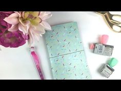DIY PAPER TRAVELER'S NOTEBOOK - How I Make My Fabric Travelers Notebook (Fauxdori with finished edges) - YouTube - TheSassyClub by Sandra Amelia