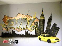 déco graff graffiti décoration art déco graff spray chambre d'enfant