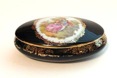 Vintage Castel Limoges Cobalt Porcelain by MemoriesofYesterday, $68.00