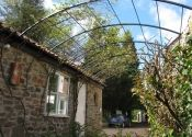 Garden pergola tunnel arch in wrought iiron, Coleford, Near Bath Iron Pergola, Gazebo Pergola, Pergola With Roof, Arch, Garden, Plants, Garten, Arches, Flora