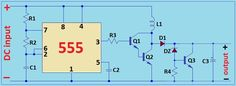 6V to 12V dc-dc boost converter using 555 timer IC | simple electronics