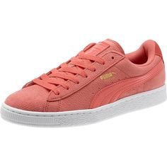 Puma Basket Remaster Women's Sneakers ($70) ❤ liked on Polyvore featuring shoes, sneakers, porcelain rose, puma footwear, puma shoes, puma sneakers and puma trainers