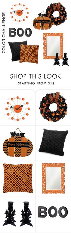"""""""Home for Halloween"""" by angelarmoyer ❤ liked on Polyvore featuring interior, interiors, interior design, home, home decor, interior decorating, Vitra, The Magnolia Company, Eichholtz and Howard Elliott"""