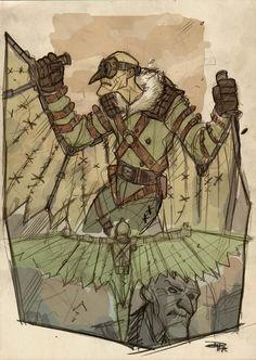 #Steampunk Spider-Man Villains /// Vulture /// by Denus Medri