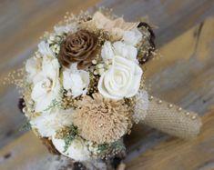 Rustico bouquet da sposa bouquet di Sola di LittleBlueBirdSays