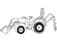 Loading Tractor coloring page Kubota Compact Tractor, Compact Tractors, Case Ih Tractors, John Deere Tractors, Tractor Clipart, Tractor Coloring Pages, Cat Engines, Kubota Tractors, New Holland Tractor