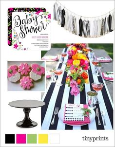 Transform your outdoor space into an adorable baby shower perfect for any mom-to-be. Incorporate homemade sparkle baby cookies with your floral table scape scheme and pops of color in your flowers.