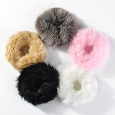 Real Genuine Rabbit Fur Hair Band Elastic Hair Bobble Pony Tail Holder BY Diy Hairstyles, Pretty Hairstyles, Girly Things, Cool Things To Buy, Hair Dryer Brands, Diy Hair Scrunchies, Unicorn Room Decor, Simple Hijab, Hair Rubber Bands