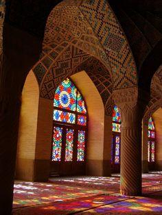 Shiraz Nasir al Molk Mosque in Iran