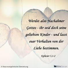 Nachzulesen auf BibleServer | Epheser 5,1-2