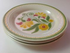 Franciscan Maypole Dinner Plates 1970s Franciscan by TheDishGarden, $33.00