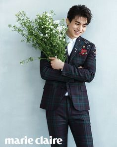 Marie Claire Taiwan Dresses Lee Dong Wook with Flowers