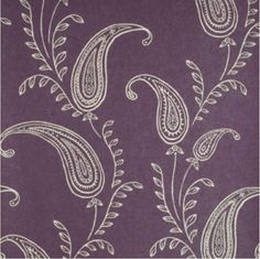 Plum purple with flourished leaves wallpaper from the HGTV HOME™ by Sherwin-Williams collection. Pattern: SW-4415528.