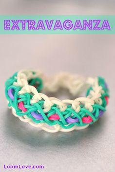 How to Make a Rainbow Loom Extravaganza Bracelet #rainbowloom