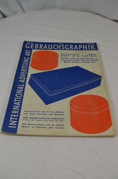 Gebrauchs Graphik International Advertising Art Vintage Magazine May 1932