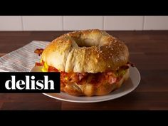 Cooking Giant Breakfast Sandwich Video — Giant Breakfast Sandwich Recipe How To Video