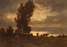 Landscape with a Plowman, Théodore Rousseau, 1860-62