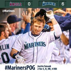 King Felix tosses 8 shutout innings, Smoak homers in 6-0 #Mariners win over #Angels 7/13/13