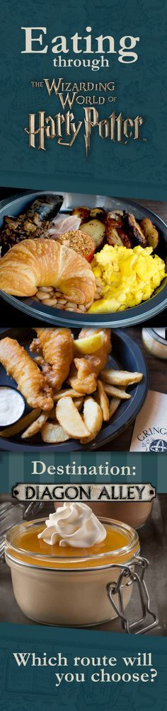 You can have Breakfast, Lunch, and Dinner without leaving the wizarding world. Click to experience the ultimate foodie journey and eat your way from Hogsmeade to Diagon Alley ...all within The Wizarding World of Harry Potter in Orlando Florida!