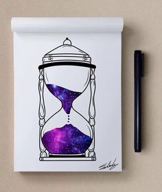 Tiempo y espacio art/drawings in 2019 space drawings, watercolor art, drawi Galaxy Drawings, Space Drawings, Cute Drawings, Pencil Drawings, Galaxy Painting, Galaxy Art, Illustration Tattoo, Arte Sketchbook, Pretty Art
