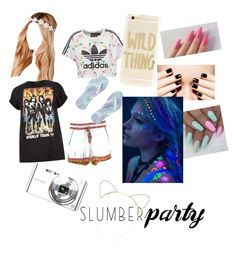 """My sleepover is never over"" by dewi-vandenberg on Polyvore featuring adidas Originals, Calypso St. Barth, Boohoo, Sony, Sonix, Lipsy, Wicked Hippie, River Island and slumberparty"
