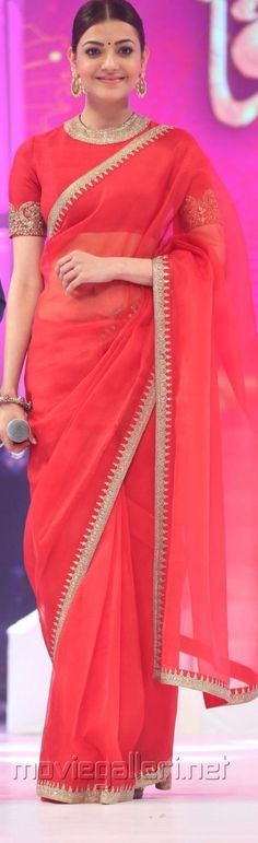 kAJAL in Sabyasachi Saree. ''Pinterest: @Littlehub [[Sabyasachi~❤。An Exquisite Clothing World]]