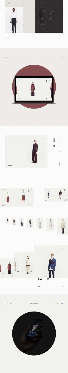 Cos. website design by Milk Work