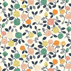 Miriam Bos for Birch Organic Fabrics, The Hidden Garden, Roses Cream, Fabricworm brings you the best in modern fabric! Baby Fabric, Cotton Fabric, Hidden Garden, Thing 1, Cream Roses, Printing On Fabric, Organic Cotton, Birch, Scrappy Quilts